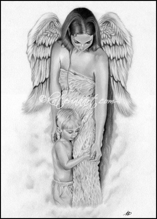 Guardian Angel Tattoo Sketches Guardian Angel , Kater...