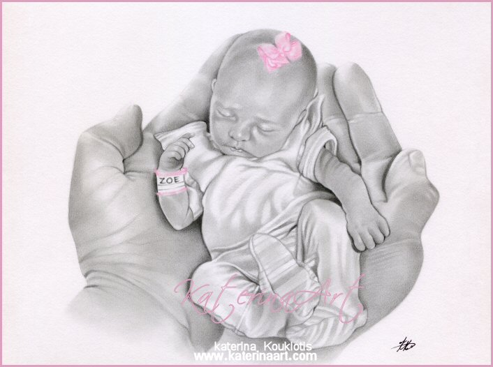 how to draw baby hands feet
